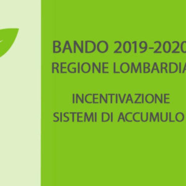 Bando accumulo regione Lombardia 2019-2020
