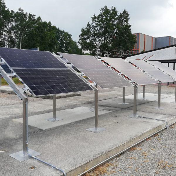 Rack con moduli bifacciali presso il JRC di Ispra (VA)